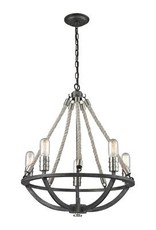 Elk Lighting Elk Lighting Natural Rope 5-Light Chandelier