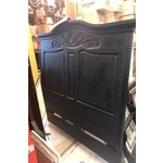 Queen - Wood Carved Headboard - Black