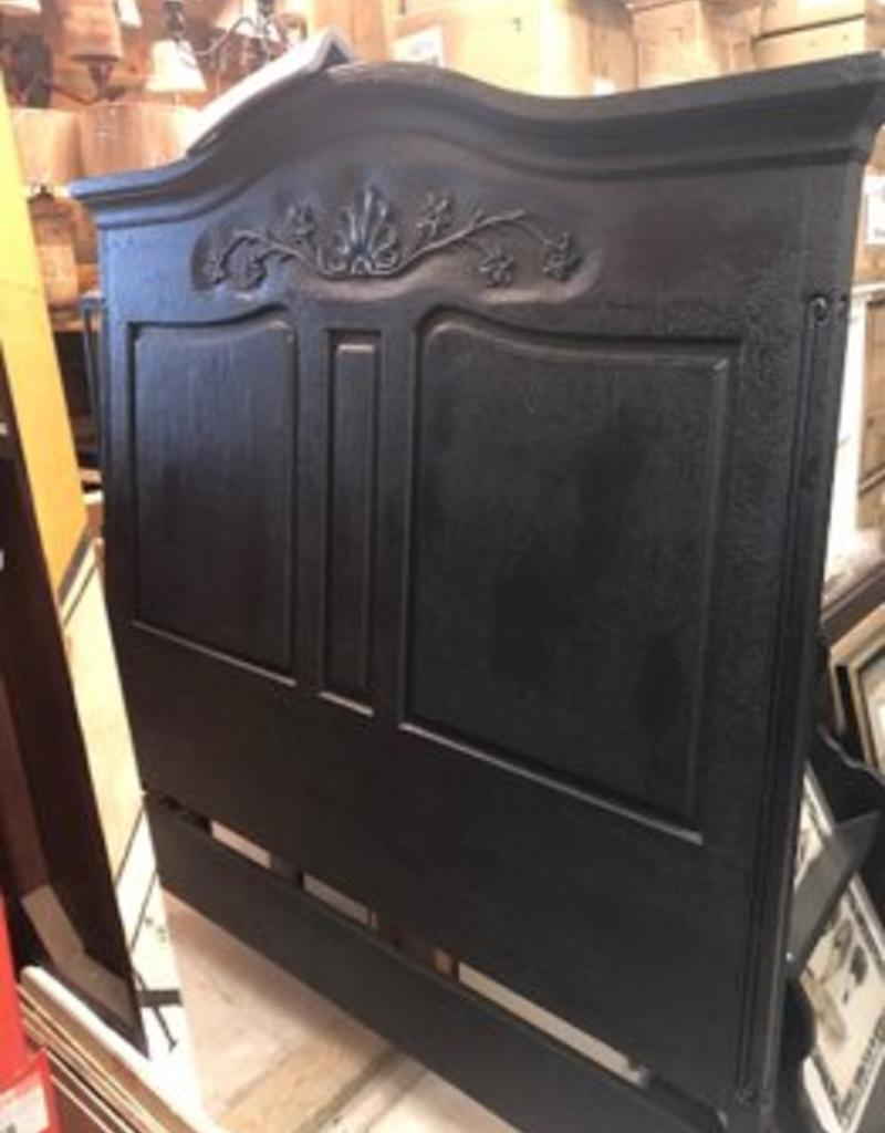 Lorts Queen - Wood Carved Headboard - Black