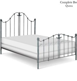 Corsican Queen Iron Bed Frame - Antique Blue