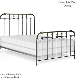 Corsican Queen Iron Bed Frame - Antique Black