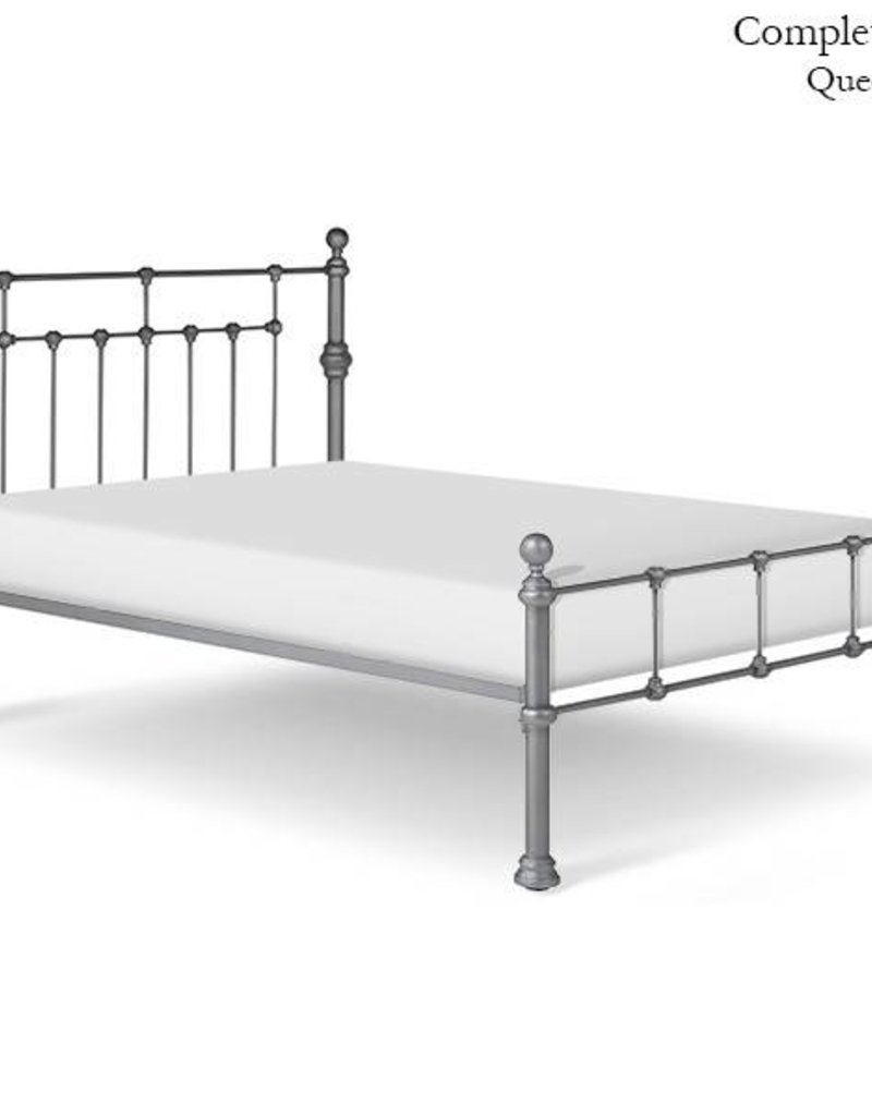 Corsican King - Red Metal Bed Frame