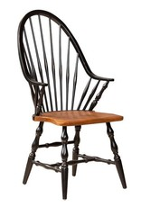 Dine Art High Back Windsor Arm Chair - Black