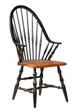 Eddy West High Back Windsor Arm Chair - Black