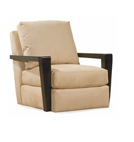 Lee Industries Swivel Chair - Caramel Sand