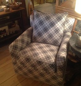 CR Laine Shelburne Swivel Chair - Highland Charcoal