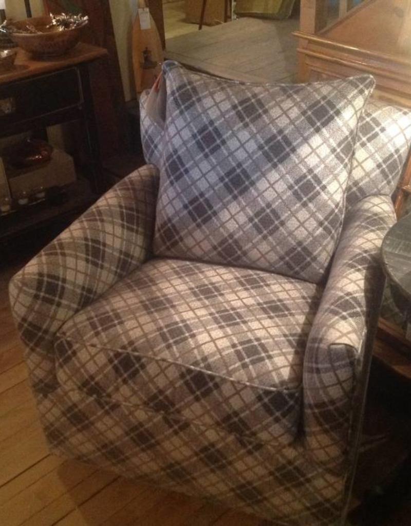 CR Laine Shelburne Swivel Chair - Highland Charcoal