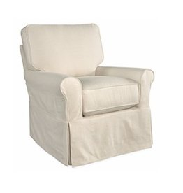 Lee Industries Swivel Glider Chair - Duck Natural