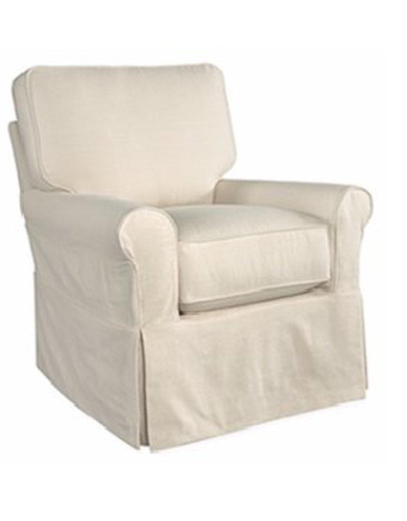 Lee Industries Swivel Glider Chair - Duck Natural