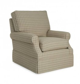 CR Laine Haddonfield Swivel Glider Chair - Seurat Charcoal
