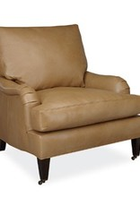 Lee Industries Leather Chair - Burnham Molasses