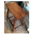 """Cody Road Workshops 24"""" Saddle Stool - Antique Pine"""