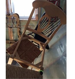 Wood & Wicker Bar Stool
