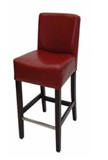 London Counter Stool - Red Leather