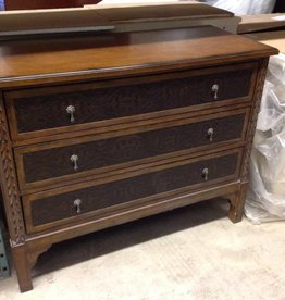 Vanguard Furniture Three Drawer Leather Faced Dresser