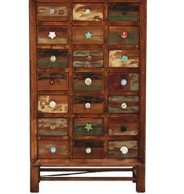 North American Country Home Wooden Cabinet 21 Drawer