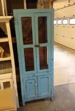 Blue Distressed Two Door Cabinet
