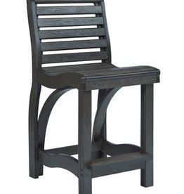 CR Plastics St. Tropez Counter Chair - Black