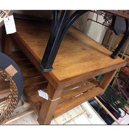 Paul Allen Pine Coffee Table with Slat Shelf