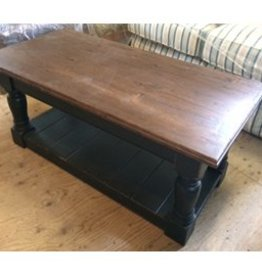 Lattimor House Custom Coffee Table - Red Base, Wood Top
