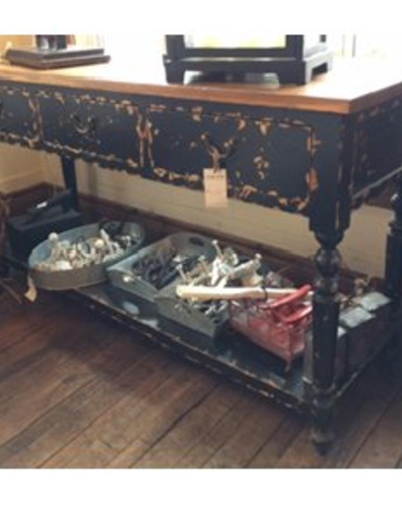Design Home Sofa Table - Distressed Black & Pine
