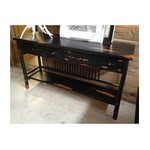 Flatrock Console Table - Black Distressed Hickory