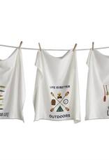 Tag ltd Outdoors Flour Sack Dish Towels Set of 3