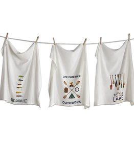 Tag ltd Outdoors Flour Sack Dish Towels Set of 3