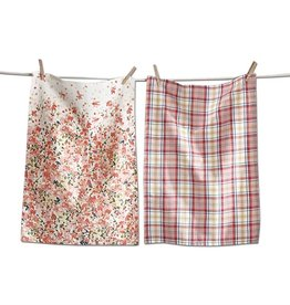 Tag ltd Petals Dishtowel Set of 2