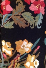 New New Horizons Black Floral Rug - 3'x5'