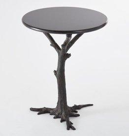 Global Views Faux Bois Side Table