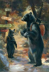 Mason Maloof Bear Print - A Walk in the Woods 22x28