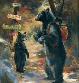 Mason Maloof Bear Print - A Walk in the Woods 22x28