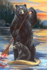 Mason Maloof Bear Print - Paddleboarding 22x28