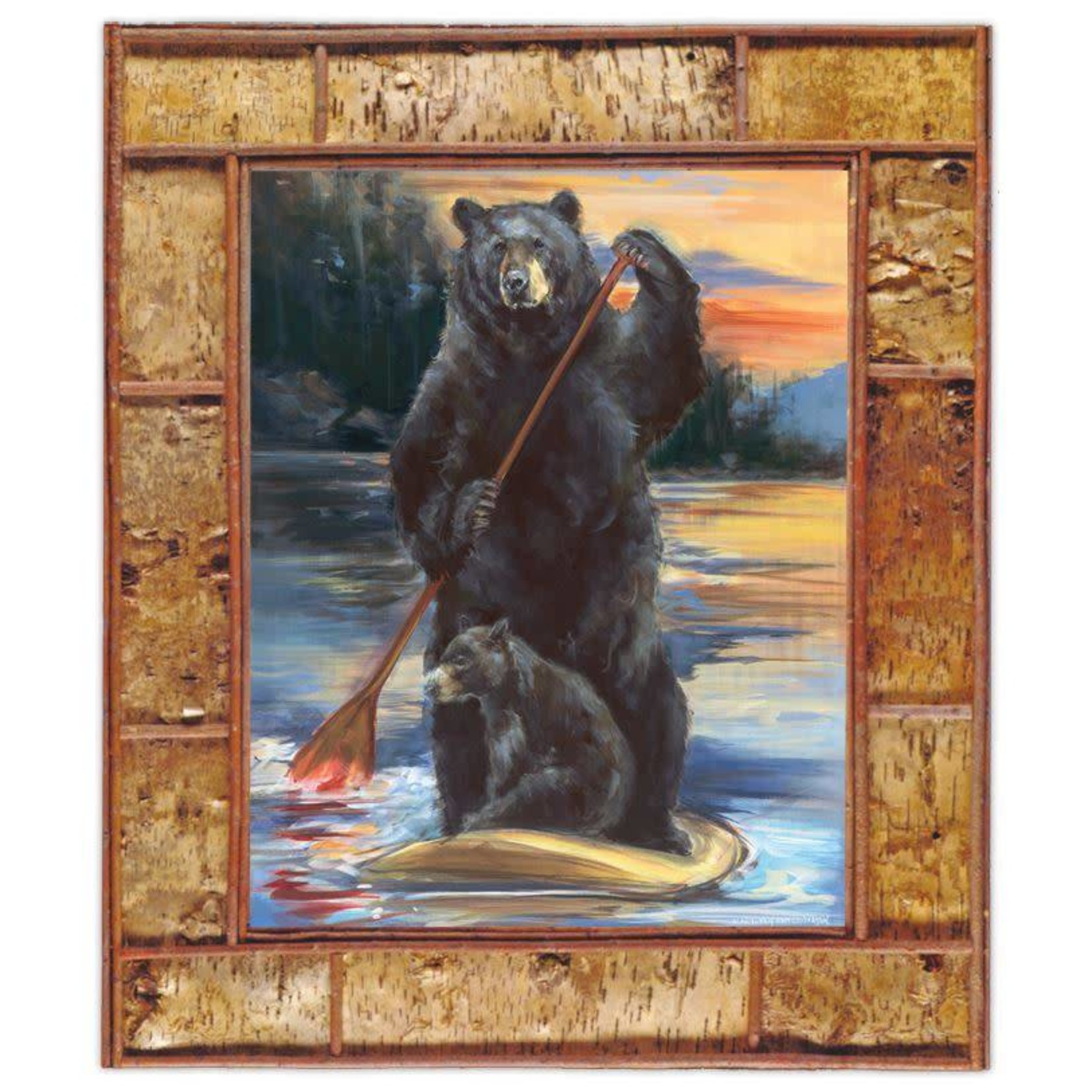 Bear Print - Paddleboarding 30x40