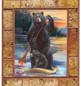 Mason Maloof Bear Print - Paddleboarding 30x40