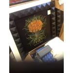 Floral On Black Wood Frame