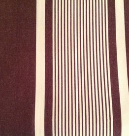 Taylor Linen Brown & Cream Striped Duvet Cover Queen