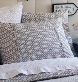 Taylor Linen Charleston Grey Standard Sham