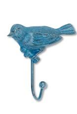Abbott Bird Wall Hook, Antique Blue