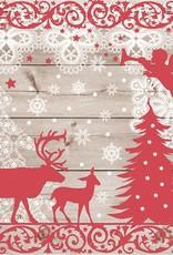 Abbott Large Christmas Forest Napkin