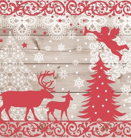 Abbott Large Christmas Forest Napkin