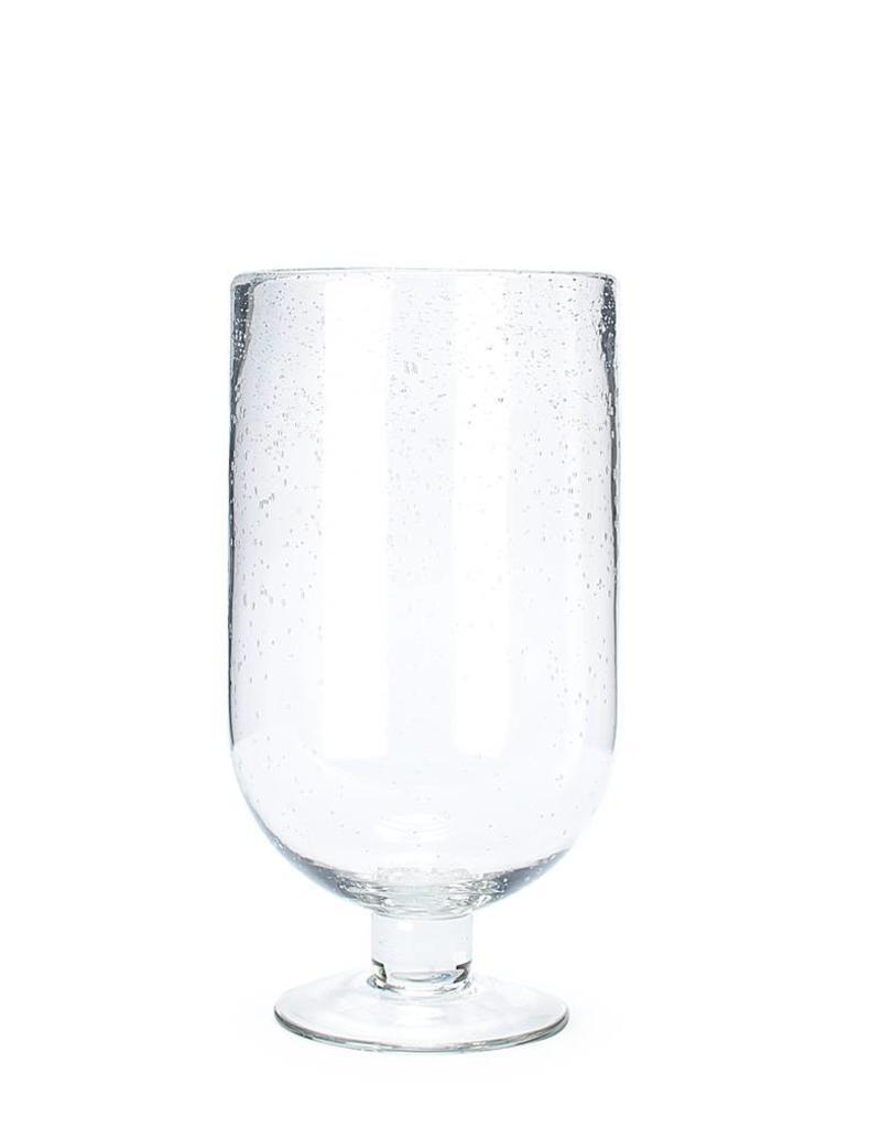 """Abbott Medium Seeded Glass Hurricane 12"""""""