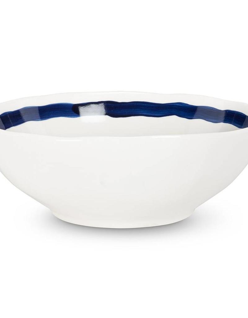 Abbott Navy and White Stripe Large Bowl