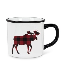 Abbott Plaid Moose Mug