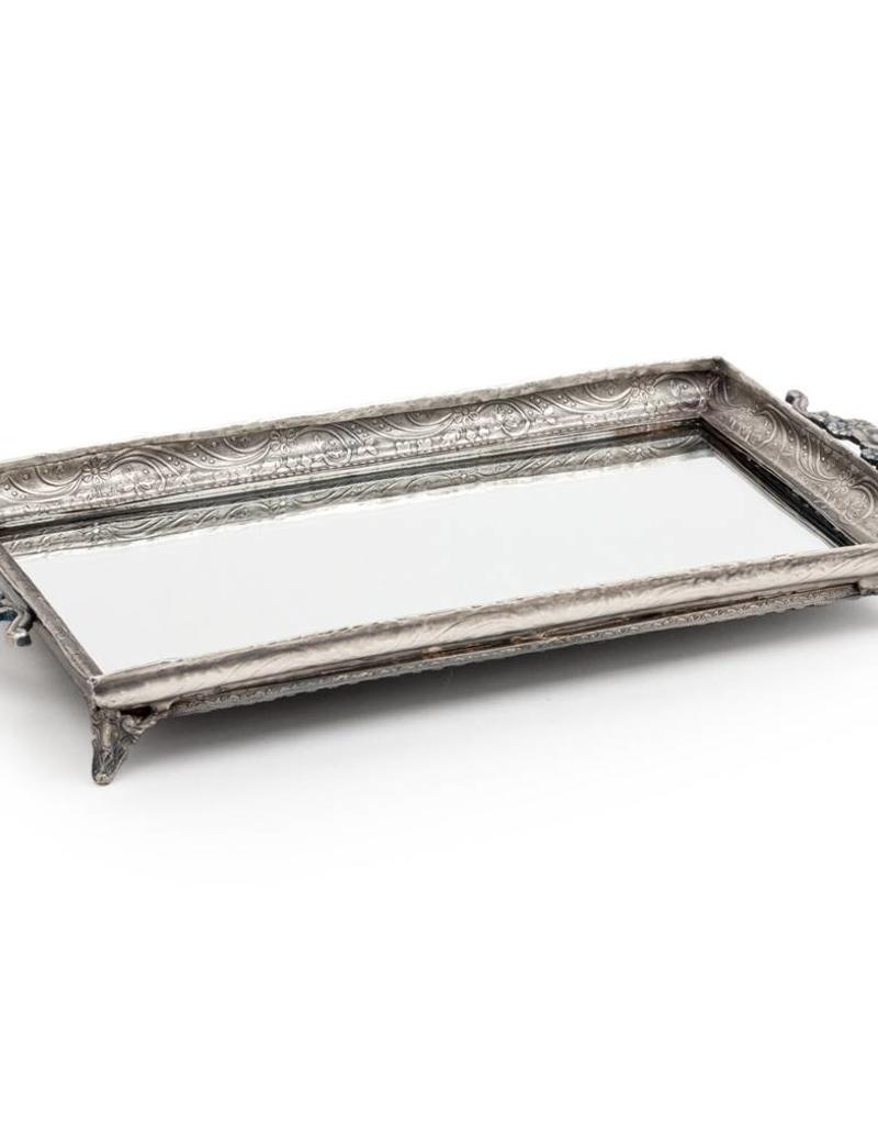 Abbott Rectangular Footed Mirror Tray 5x11in