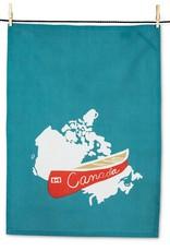 Abbott Red Canoe Tea Towel