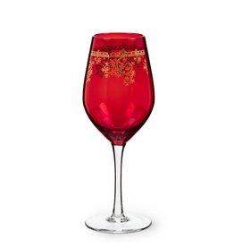 Abbott Red & Gold Filigree - Goblet