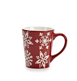 Abbott Red Snowflake Mug 12 oz.