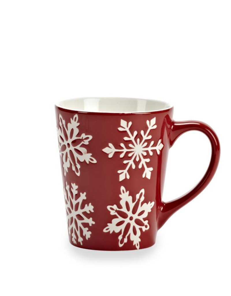 Abbott Red Snowflake Mug 12 oz.